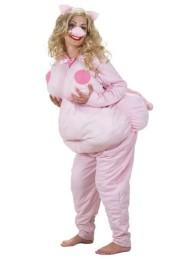 Costume de Femme Cochon - Ce costume contient : La combinaison rembourrée avec la queue, les oreilles et le nez