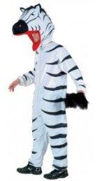 Costume de Zèbre - Ce costume contient : La combinaison avec la queue et la tête de zèbre