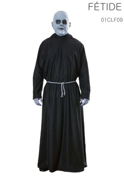 Le masque, la robe et la ceinture-cordon