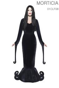 La robe longue avec les motifs ourlés