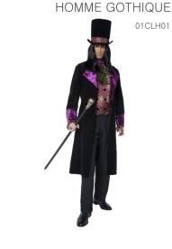 Le faux gilet avec le foulard attaché, la veste et le chapeau